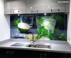 credence cuisine noir et blanc en verre transparent cuisine free finest crdence cuisine mojito with