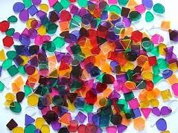 500g large translucent mosaic plastic tiles mosaic craft tiles