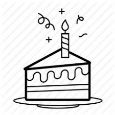 Image result for birthday cake slice drawing