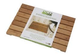 Round Bathroom Rugs Target by Amazon Com Creative Bath Eco Styles Bath Mat Bamboo Home U0026 Kitchen