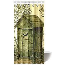 Amazon ADEDIY Fashion Custom Shower Curtain Outhouse Wooden