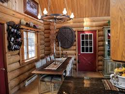 Rustic Log Cabin Kitchen Ideas by Log Cabin Living Lake View Cabin And Woodsy Retreat Log Cabin