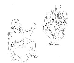 Best Moses And The Burning Bush Coloring Page Gallery Pages