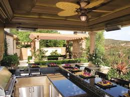 rustic outdoor kitchen ideas bronze marble counter top orange