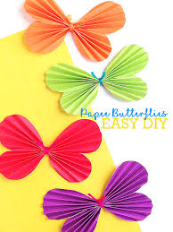 Simple Accordion Fold Paper Butterflies Craft With Free Printable Template Papercraft Spring