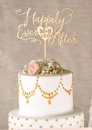 Wedding Cake Topper You are my happy Gold by Better fWed