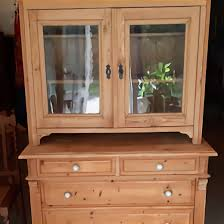 alter vitrinenschrank helles weichholz ca 100 j