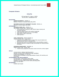 Sample Resume For Computer Science Lecturer Post Doc Fresher
