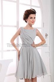 gorgeous silver chiffon a line cocktail dress party dresses