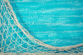 Fishing Net Old Blue Board Stock Image Image of brown sail