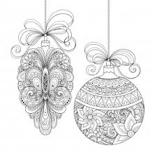 Christmas Ornaments Use This Coloring Page To Make Your Own Greeting Cards