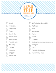 Beach Trip Packing List For Families With Older Kids