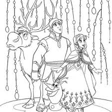 Anna Kristoff Sven And Olaf Look Something Amazing Coloring Page