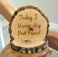 Rustic Wedding Cake Topper Today I Marry My Best Friend Wood Burned