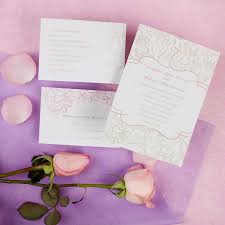 Cheap Printable Elegant Floral Wedding Invitations With Free Response Cards