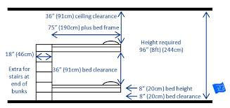 basic bunk bed design for 2 beds with dimensions dimensions for