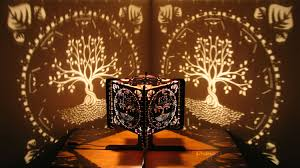 Laser Cut Lamp Shade by Decorative Ambient Lasercut Wooden Tree Of Life Shadow Lamp