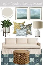 beige aqua living room mood board maybe too coastal home