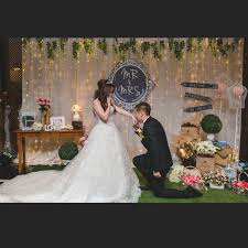 Wedding Garden Rustic Theme Photo Booth Backdrop Design Craft