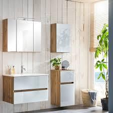 badezimmer komplett set heerlen 03 in wotaneiche nb mit glasfronten w