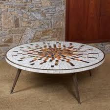 mid century modern mosaic coffee table mid century modern
