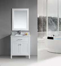 30 Inch Bathroom Vanity by Design Element London Single 30 Inch Modern Bathroom Vanity Set