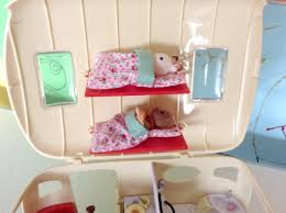 Calico Critters Bunk Beds by Sylvanian Families Caravan Toy Let U0027s Go Camping Maylla Playz