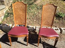 Antique Cane Back Chairs Furniture White