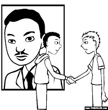 MLK Martin Luther King Online Coloring Page