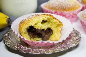 bananen muffins mit nutella kern rezept verzuckert de