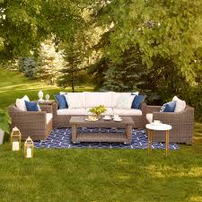 Lowes Canada Patio Furniture by Shop Allen Roth Fulton Ridge 5 Piece Conversation Set At Lowe U0027s