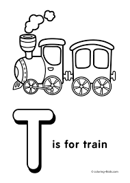 Letter T Coloring Pages Alphabet Words For Kids