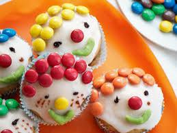 clown cupcakes glutenfrei