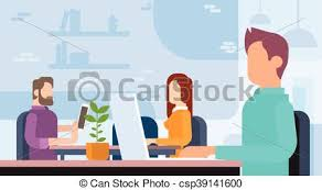 equipe bureau bureau fonctionnant affaires gens coworking lieu travail