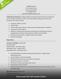 Example Of A Good Walmart Resume Lovely Sales Associateume Examples Job Gallery