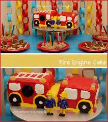 99 Truck Birthday Party Fire 59355 Fireman Sam Fire Engine Cake