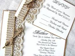 Rustic Burlap Wedding Invitations Australia Pinterest Online Invitation
