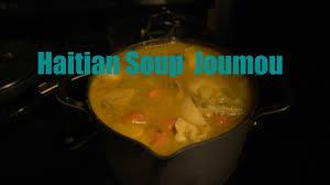 Traditional Haitian Pumpkin Soup Recipe by How To Make Haitian Soup Joumou New Year Soup Youtube