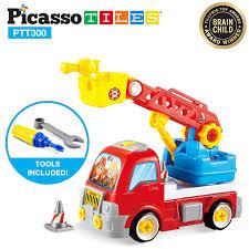 100 Fire Truck Parts Amazoncom PicassoTiles DIY Construction Toy Car Set
