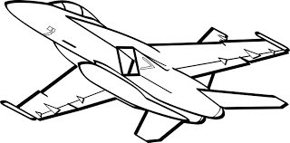Jet clipart black and white 8