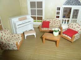 sylvanian families wohnzimmer 2 sessel klavier
