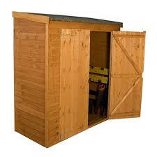 8x6 Wood Storage Shed by 6 X 2 6 Overlap Pent Storage Shed With Double Doors 10mm Solid