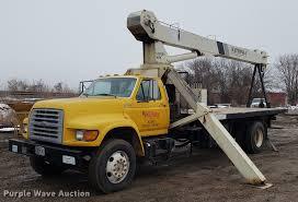 100 Uke Truck 1998 Ford F800 Crane Truck Item AV9331 Thursday February