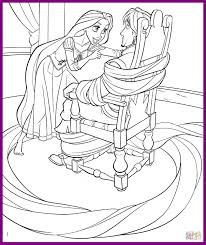 Disney Coloring Pages Rapunzel Unbelievable Princess And Flynn To