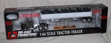 100 Diecast Promotions Trucks Ertl DCP DieCast Peterbilt Truck W Wilson Grain Trailer