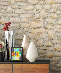 newroom papiertapete steintapete beige ziegelstein backstein mauerwerk klinker tapete steinoptik wohnzimmer schlafzimmer flur tapete steinoptik