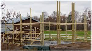 setting your posts apb pole barns