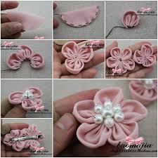 How To Make Nice Fabric Flower Hair Clip Step By DIY Instructions