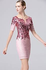 2016 coniefox new arrival fashion shiny sequined pink party