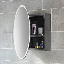 soak moderner spiegelschrank aus edelstahl für das badezimmer badschrank mit spiegel 50 x 50 cm eine tür rund einfache montage
